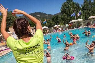 camping verdon piscine aquagym